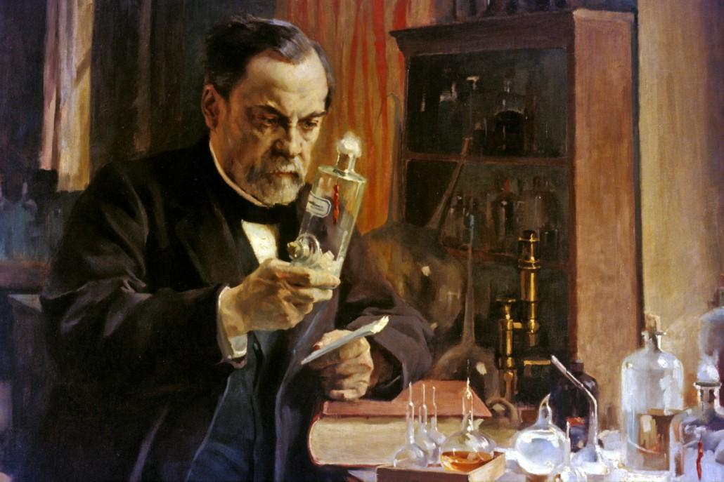 Louis Pasteur dans son laboratoire de l'Ecole normale supérieure. Huile sur toile par Edelfelt (1854-1905) en 1886.